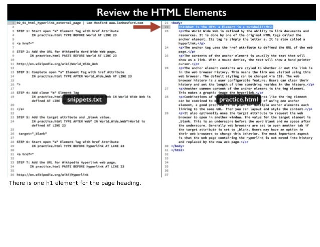 html a element  link to external page