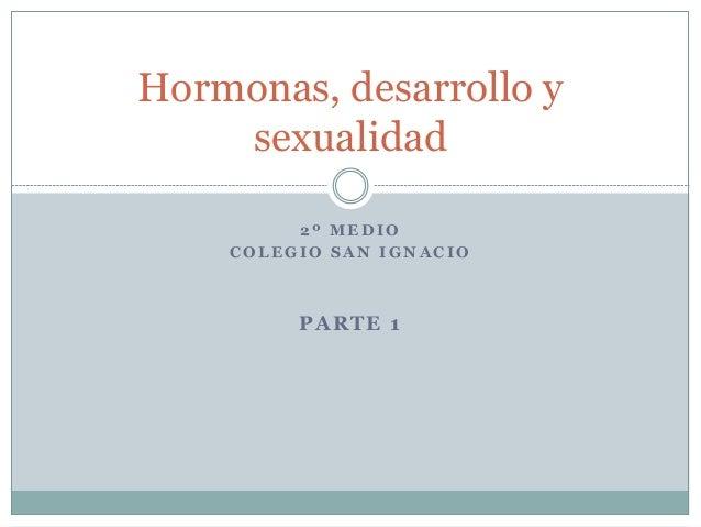 2 º M E D I O C O L E G I O S A N I G N A C I O PARTE 1 Hormonas, desarrollo y sexualidad