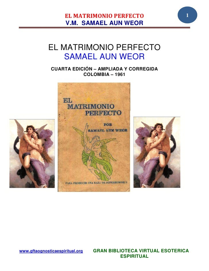 Matrimonio Perfecto : Original el matrimonio perfecto