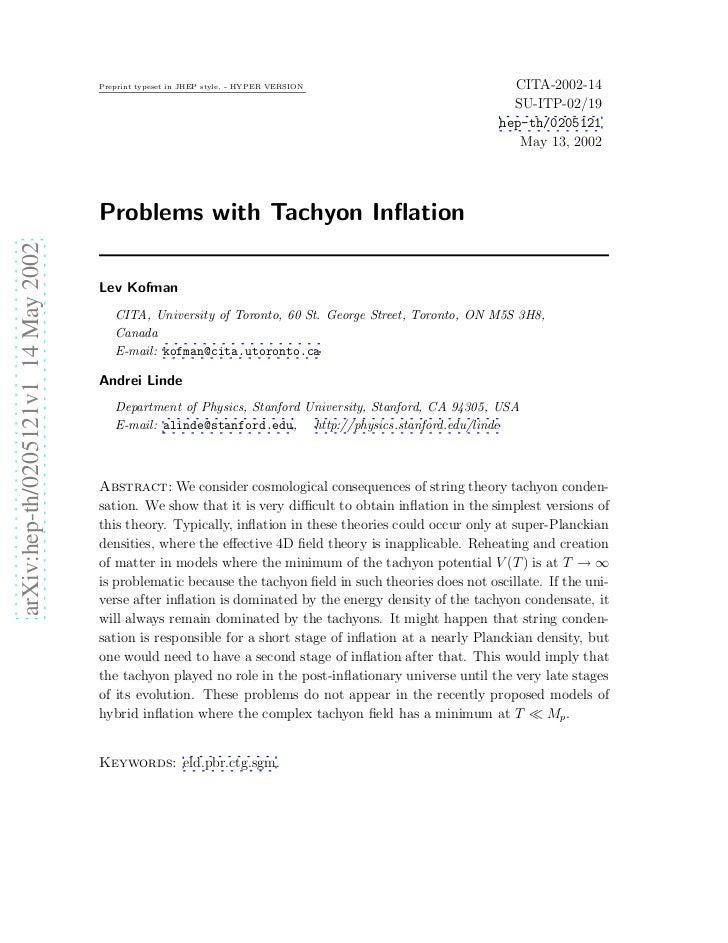 Preprint typeset in JHEP style. - HYPER VERSION                        CITA-2002-14                                       ...