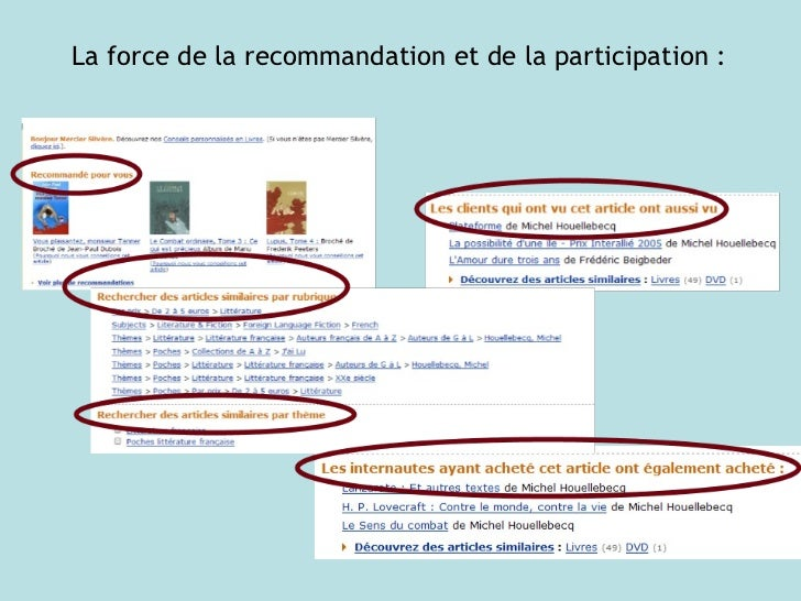 La force de la recommandation et de la participation :