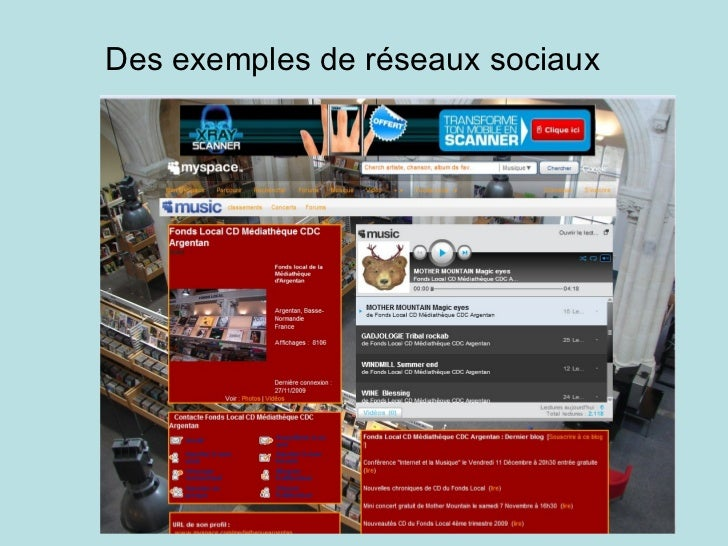 Des exemples de réseaux sociaux