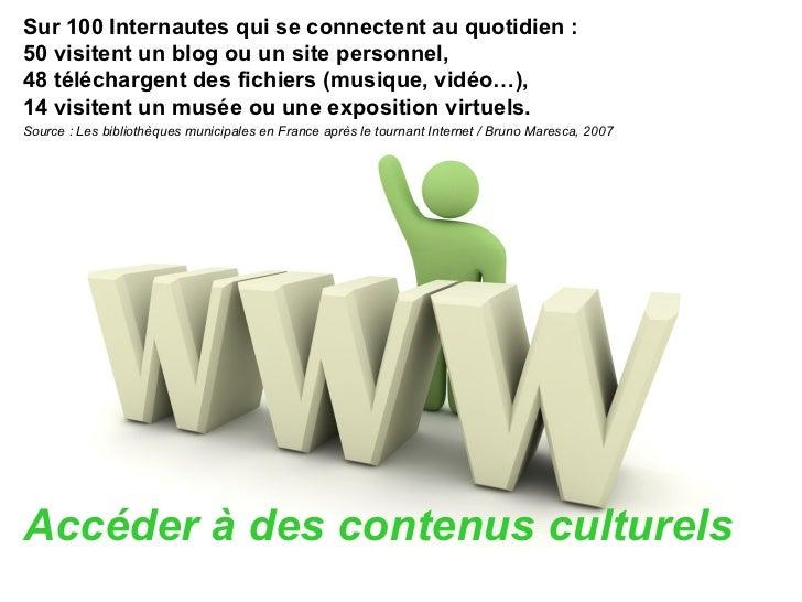 <ul><li>Sur 100 Internautes qui se connectent au quotidien : </li></ul><ul><li>50 visitent un blog ou un site personnel, <...