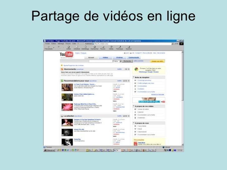 Partage de vidéos en ligne