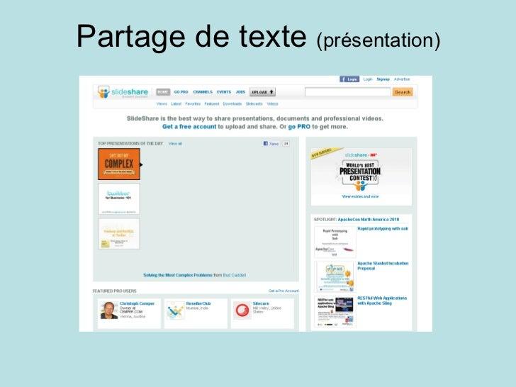 Partage de texte  (présentation)