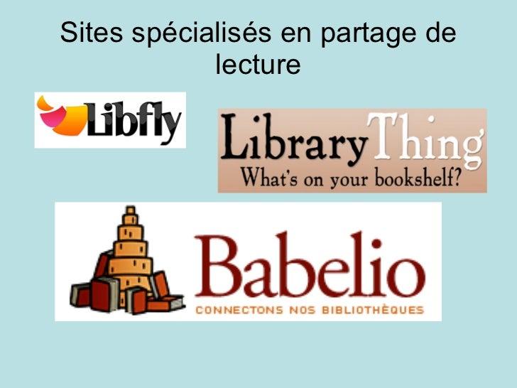Sites spécialisés en partage de lecture