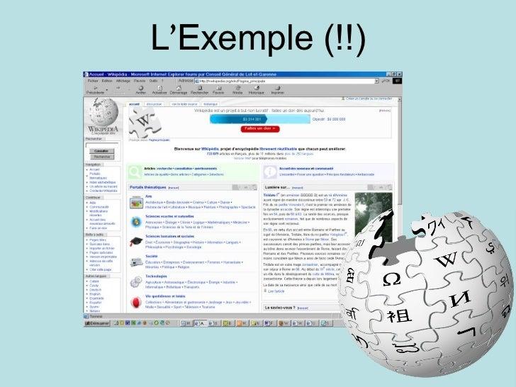 L ' Exemple (!!) 
