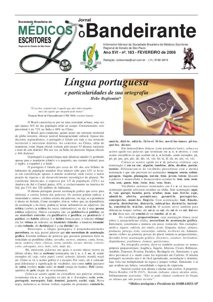 Jornal                                                         O     Bandeirante   Informativo Mensal da Sociedade Brasile...