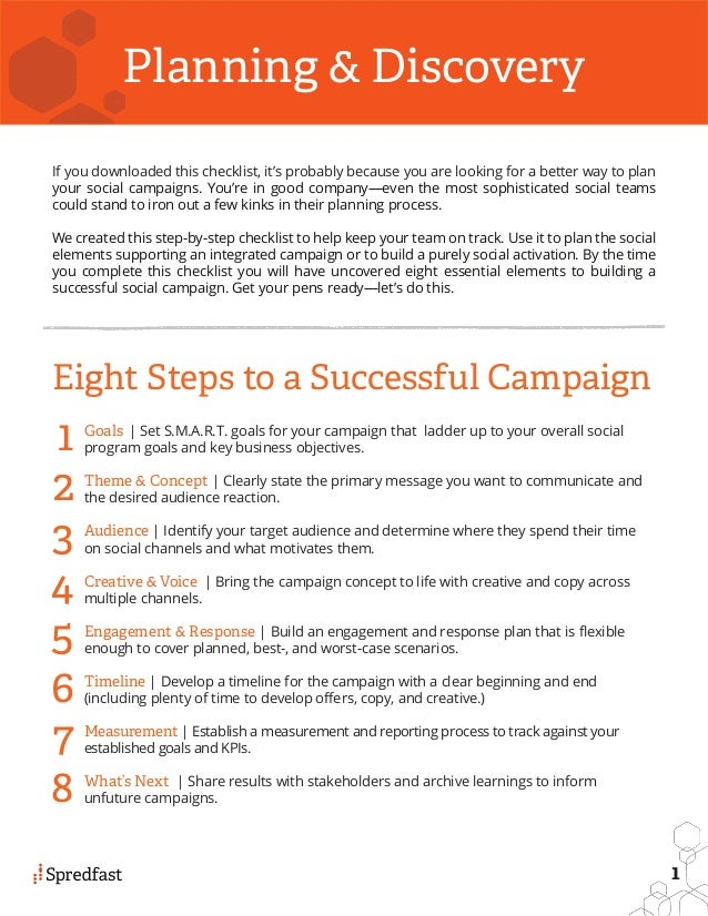 What Are 8 Steps To A Successful Social Campaign Plan And Checklist? #slideshow Slide 2