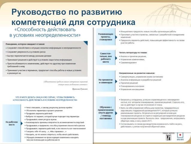 21  Руководство по развитию  компетенций для сотрудника