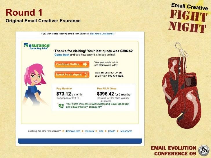 Round 1 Original Email Creative: Esurance