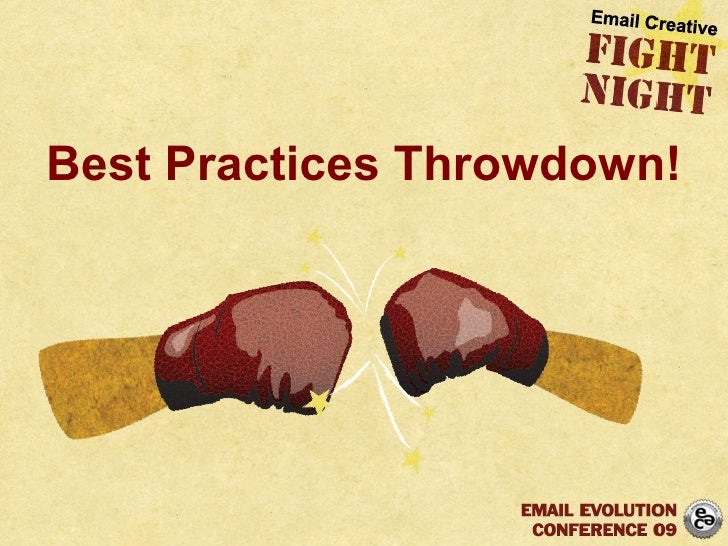 Best Practices Throwdown!