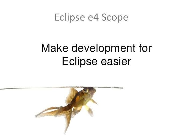 Eclipse RCP Overview @ Rheinjug