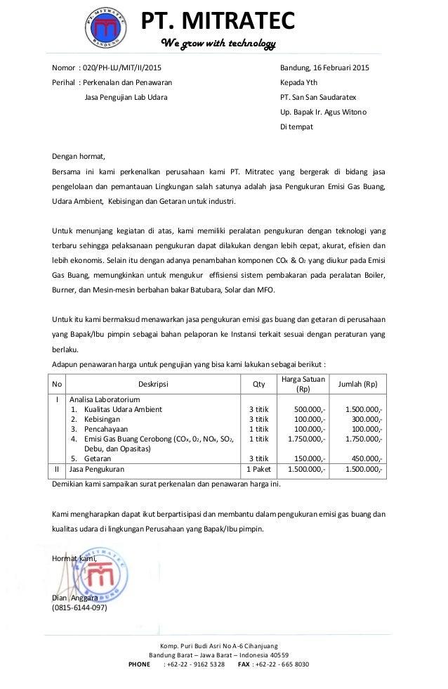 020 perkenalan dan penawaran harga lab udara pt. san san ...