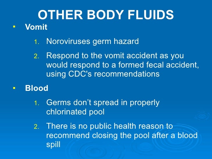 Understanding pool spa water testing - Vomiting after swimming in public pool ...