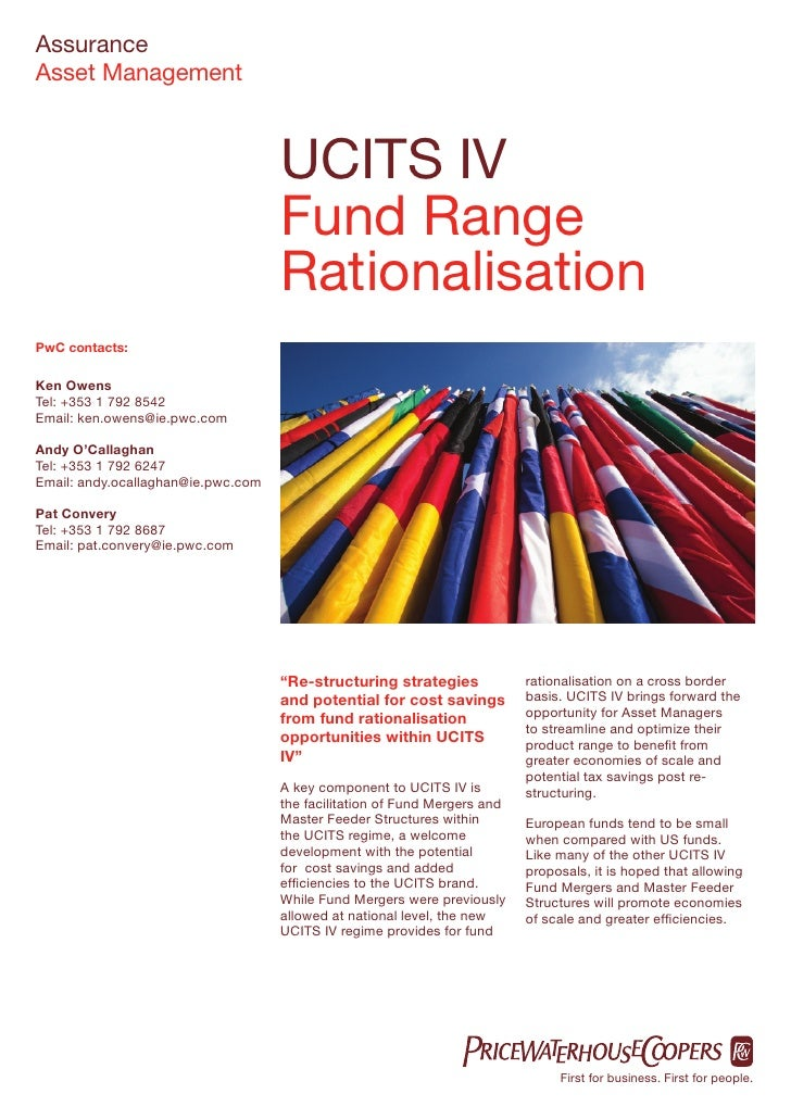 Assurance Asset Management                                        UCITS IV                                     Fund Range ...