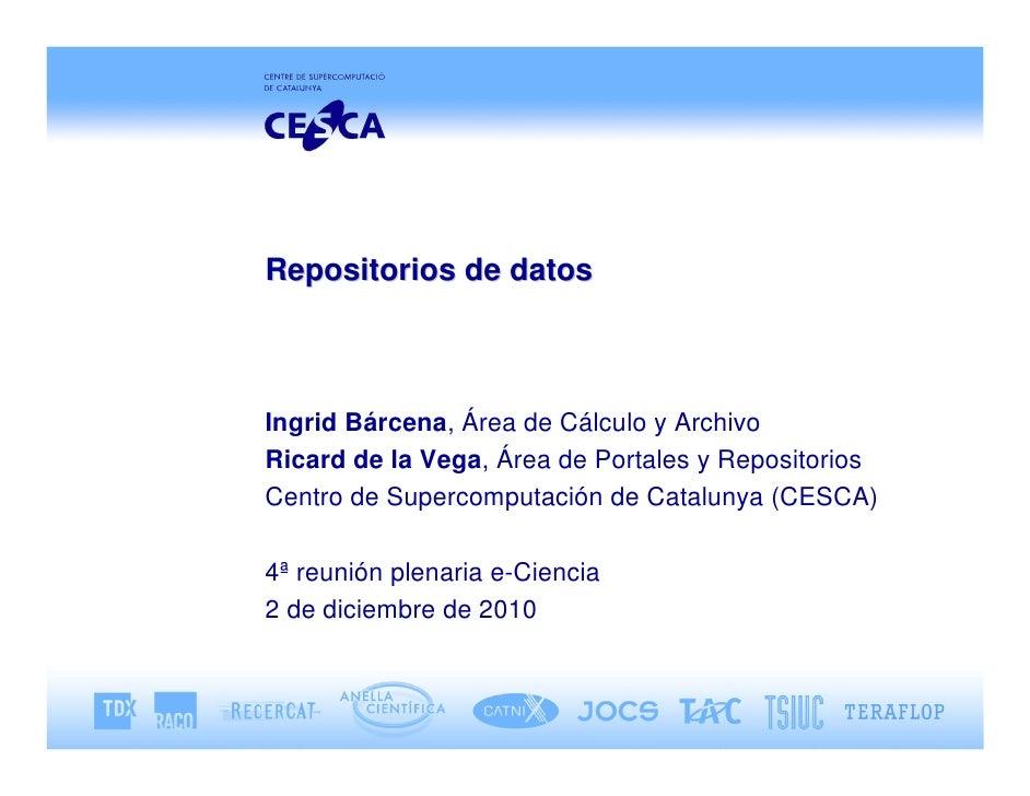 Repositorios de datos