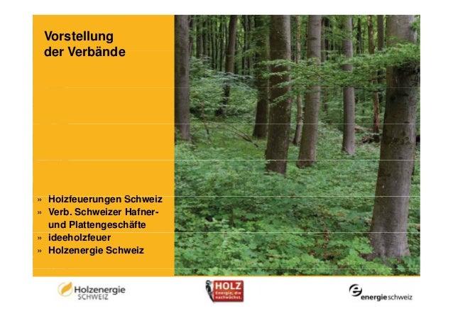 Vorstellung der Verbände» H l f           S h i  Holzfeuerungen Schweiz» Verb. Schweizer Hafner-  und Plattengeschäfte» id...