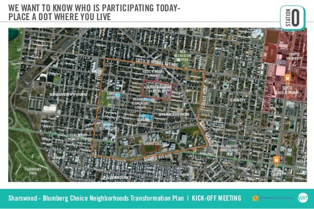 Sharswood - Blumberg Choice Neighborhoods Transformation Plan | KICK-OFF MEETING WE WANT TO KNOW WHO IS PARTICIPATING TODA...