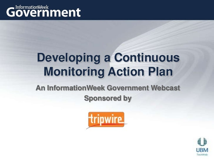 Developing a Continuous Monitoring Action Plan