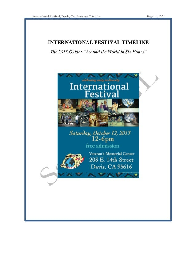 International Festival Event Guide Sample