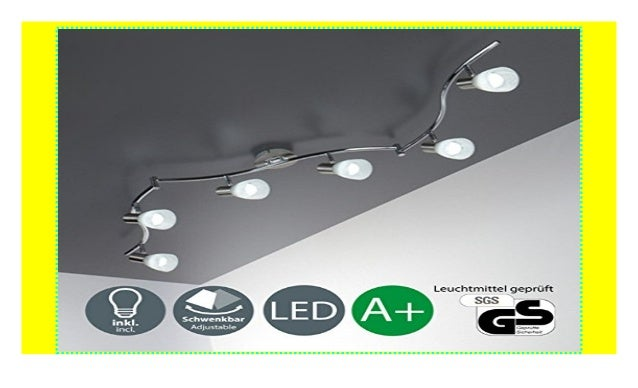LED Deckenleuchte I 6 flammiger Deckenstrahler I ...