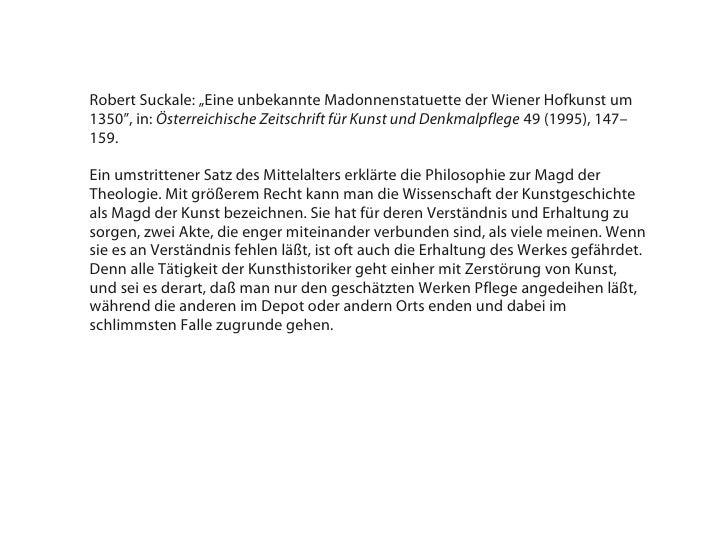 """Robert Suckale: """"Eine unbekannte Madonnenstatuette der Wiener Hofkunst um1350"""", in: Österreichische Zeitschrift für Kunst ..."""