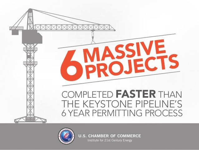 COMPLETED FASTER THAN  THE KEYSTONE PIPELINE'S  6 YEAR PERMITTING PROCESS  MASSIVE 6PROJ EC T S
