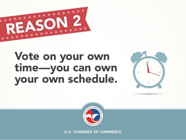 REA SON 2  Vote on your own  time—you can own  your own schedule.