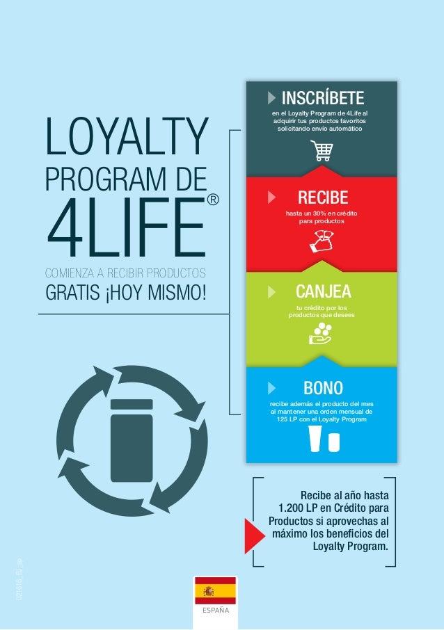 4LIFE ® LOYALTY PROGRAM DE COMIENZA A RECIBIR PRODUCTOS GRATIS ¡HOY MISMO! Recibe al año hasta 1.200 LP en Crédito para Pr...