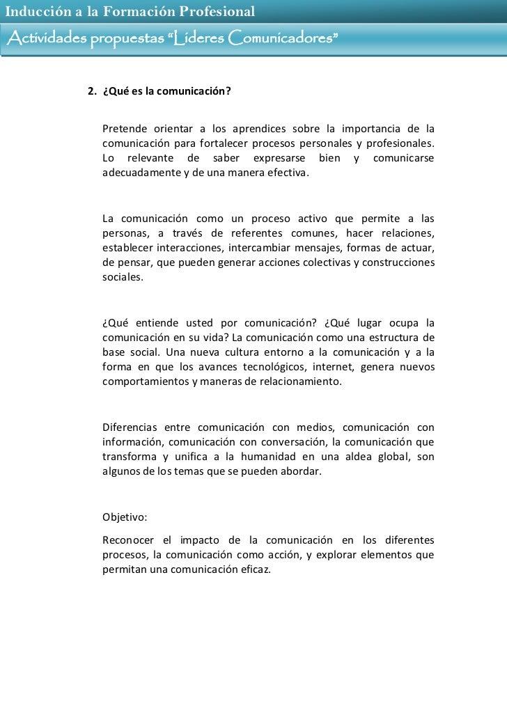 02 1 actividades propuestas lideres comunicadores Slide 3