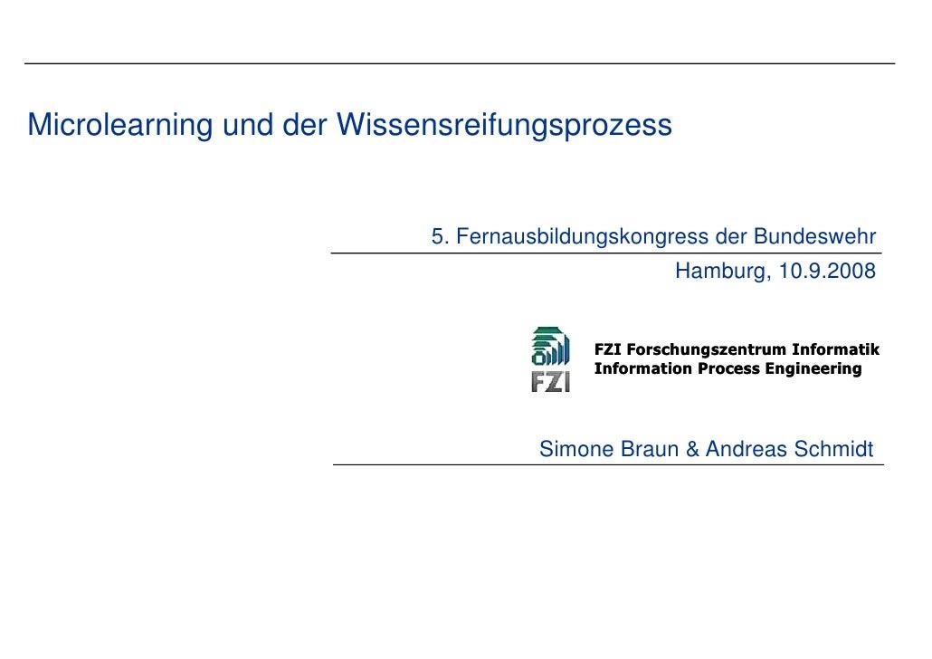 Microlearning und der Wissensre                               eifungsprozess                                              ...