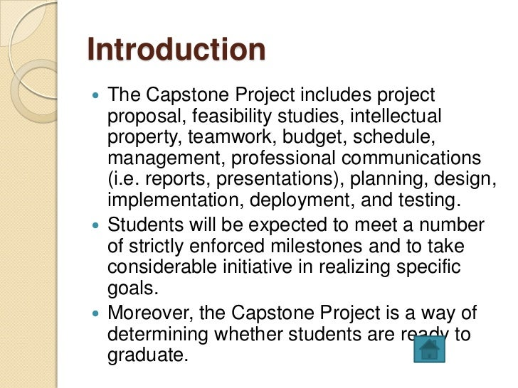 capstone project proposal example