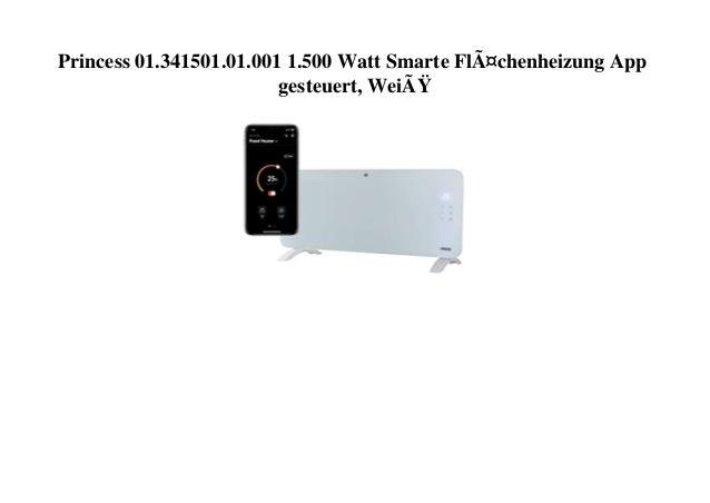 Princess 01.341501.01.001 1.500 Watt Smarte Flächenheizung App gesteuert, Weiß
