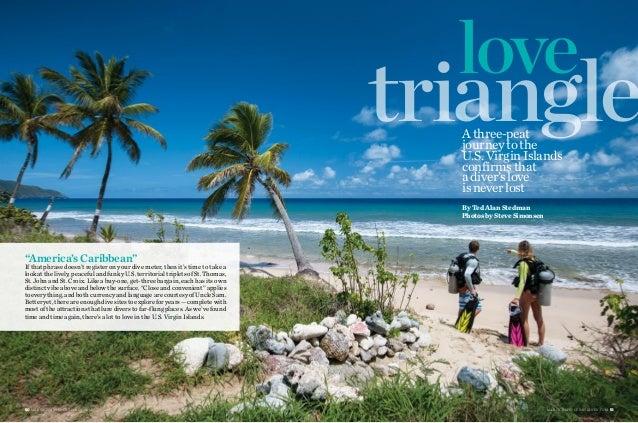 "love triangle 50 M A RC H 2015 | S P O RT D I V E R .C O M M A RC H 2015 | S P O RT D I V E R .C O M 51 ""America's Caribbe..."