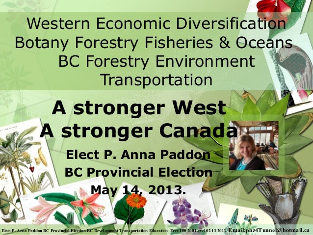 Western Economic Diversification      Botany Forestry Fisheries & Oceans           BC Forestry Environment                ...