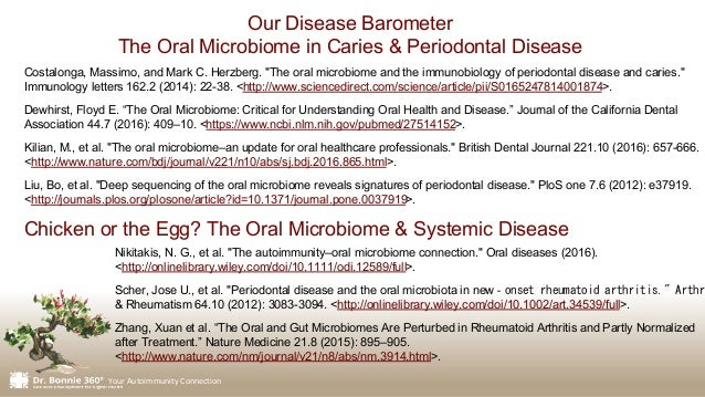 """Your Autoimmunity Connection Costalonga, Massimo, and Mark C. Herzberg. """"The oral microbiome and the immunobiology of peri..."""