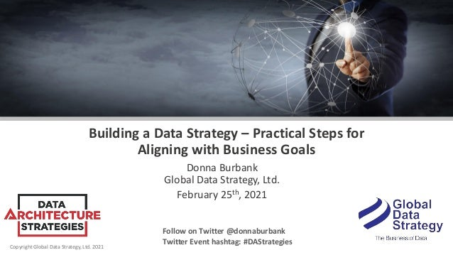 Copyright Global Data Strategy, Ltd. 2021 Building a Data Strategy – Practical Steps for Aligning with Business Goals Donn...