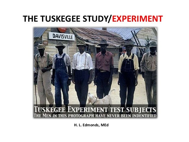 tuskegee experiments A new study finds that the tuskegee syphilis experiments have had long-term damage to the health of black american men.