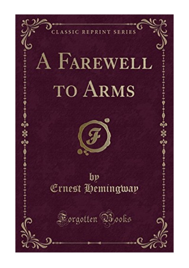 Pdf ernest hemingway a arms farewell to