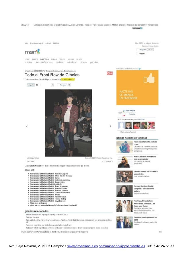 Todo el front row de Cibeles| MSN.com