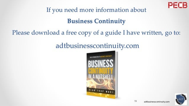 need for business continuity plan ( bcp) - a case study Business continuity planning in the  this research involves with a case study in regard to the railway sector in making a  13 business continuity plan.