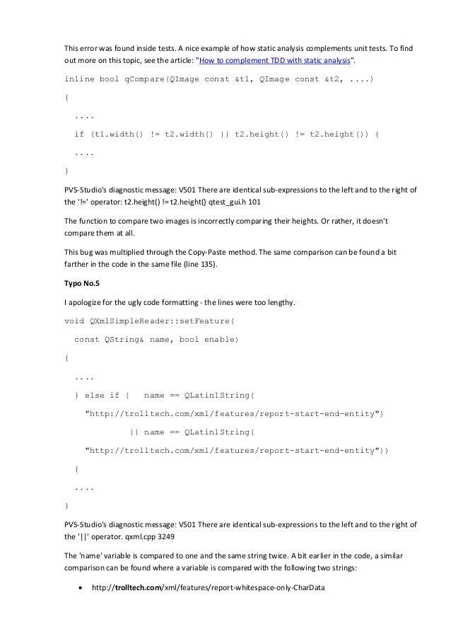 Checking the Qt 5 Framework