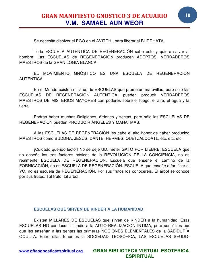 GRAN MANIFIESTO GNÓSTICO DEL 3 AÑO DE ACUARIO EN HONOR DEL