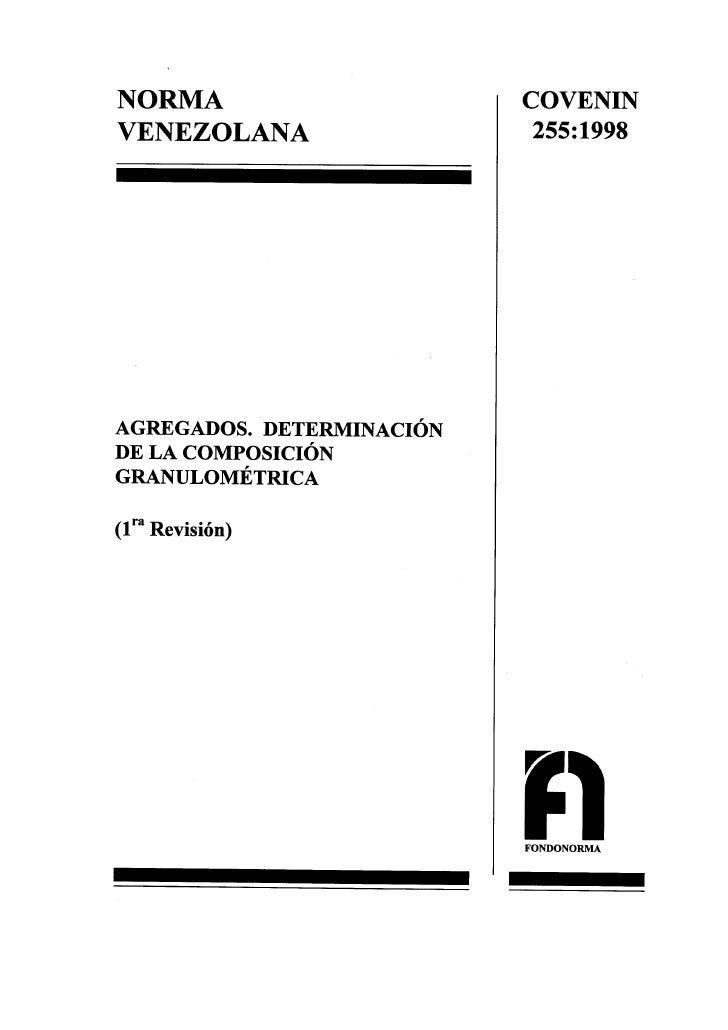 0255 1998 Norma Agregados