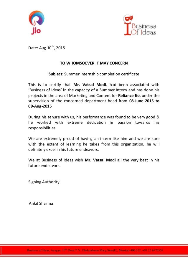 Business of Ideas, Aangan, 10th Floor,T.V. Chidambaran Marg,Sion(E), Mumbai-400 022. +91 22 6576555 Date: Aug 10th , 2015 ...