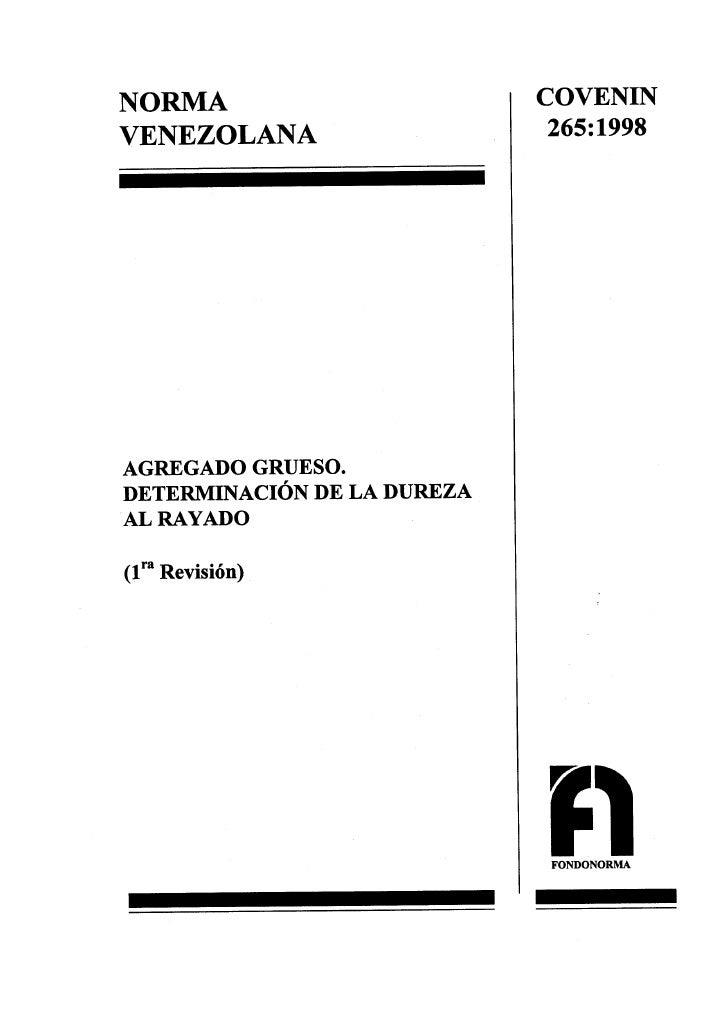 0265 1998 Norma Det Dureza