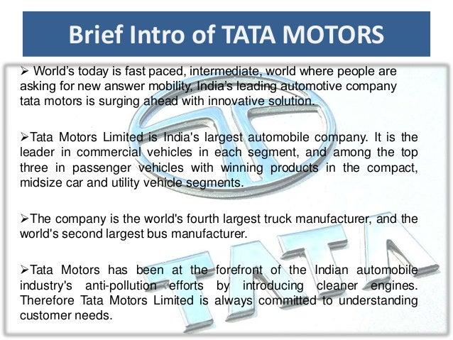 market structure of tata motor Brief intro of tata motors world  organizational structure:  milestones tata motors enters bangladesh's newcar market tata ace races through the.