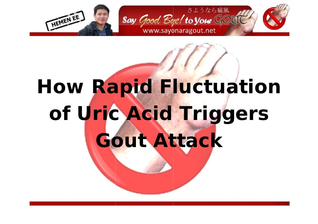 Ho Ra  ow apid Fluctua   ation  of Uric Acid Trigg  o     c          gers      Goout Atttack           ...