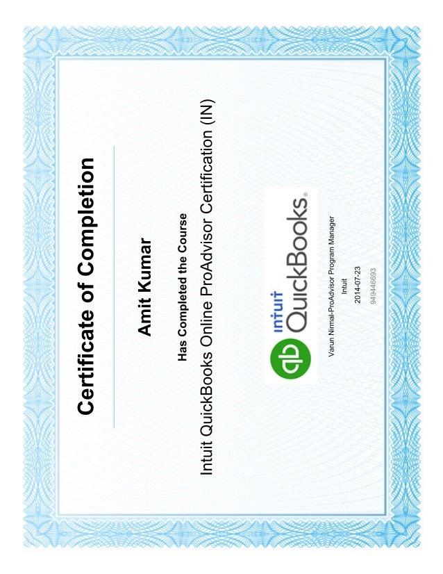 Intuit Quickbooks Online Certification In